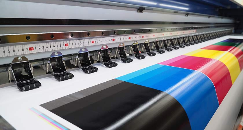 Trace the role of large format printing in the online world