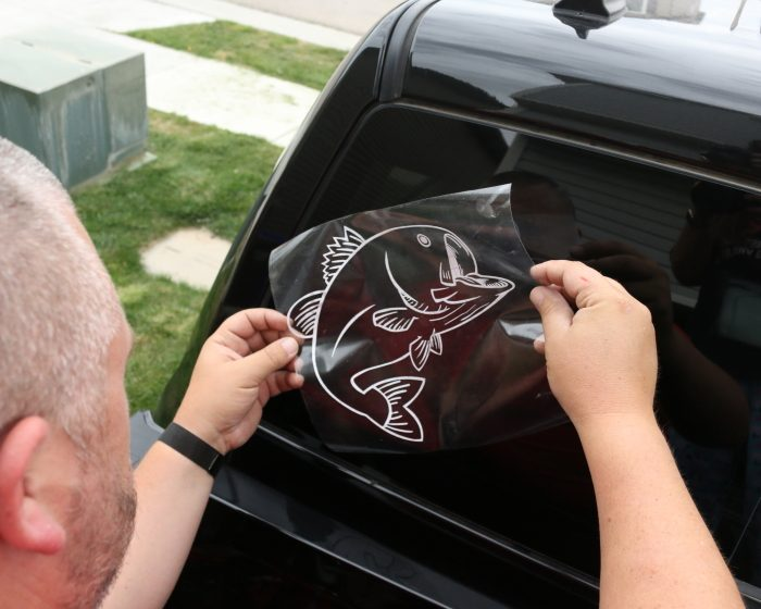 What are the uses of branded car window stickers?
